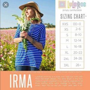 LuLaRoe Tops - LuLaRoe Irma Large Brown & Cream Plaid